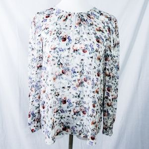 Rebecca Taylor- Long Sleeve Ruby Floral Top